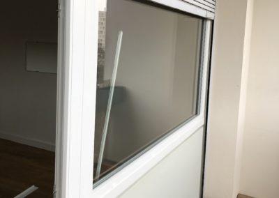 Pose d'une porte fenêtre et d'un fixe – Lyon (69)